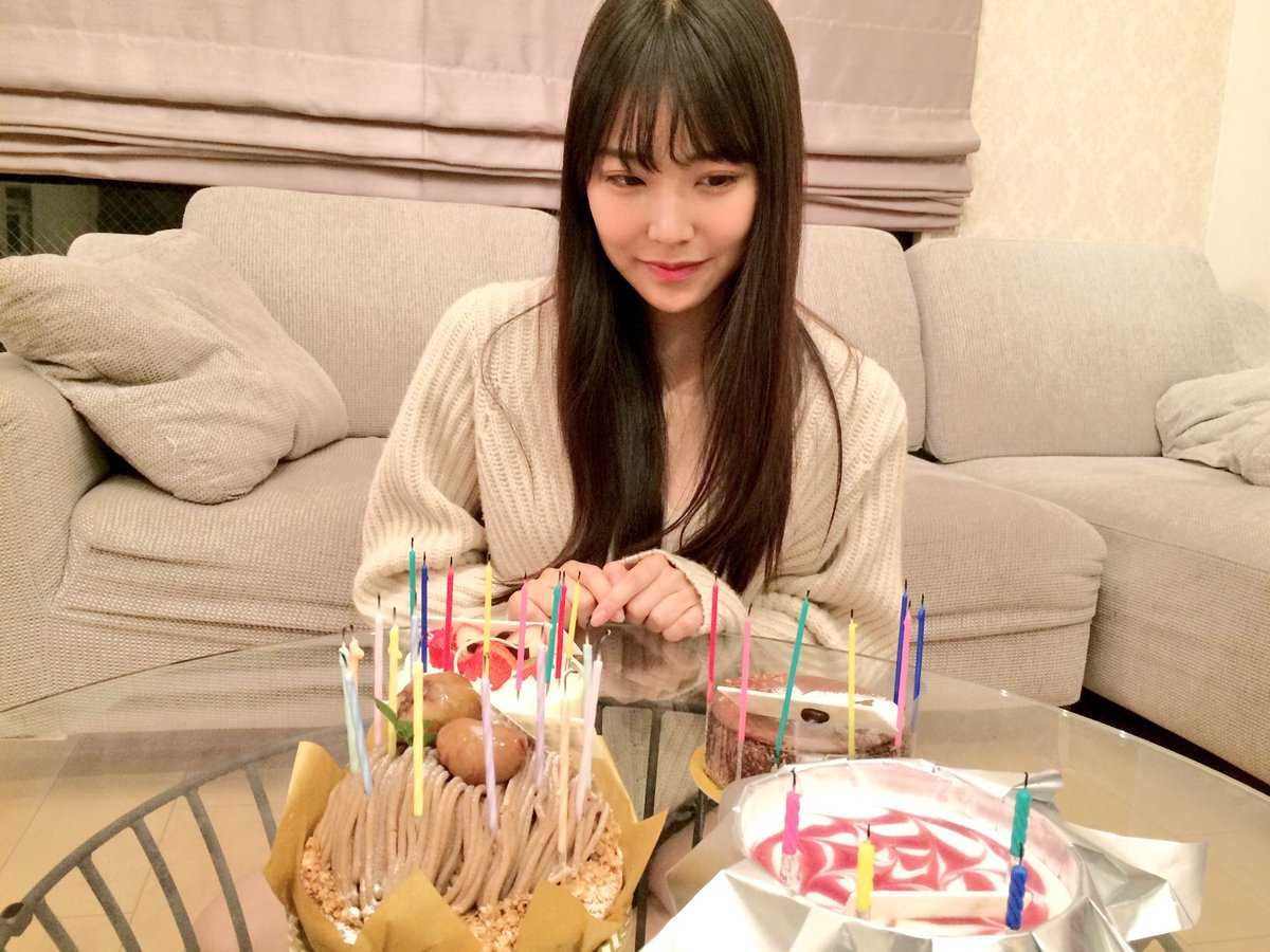 shiroma miru birthday cake 白間美瑠お誕生日ケーキ